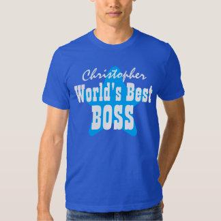 World's Best BOSS with Star V03 BLUE T-shirt