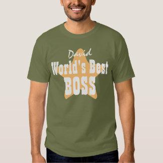 World's Best BOSS with Star V05 KHAKI T Shirt