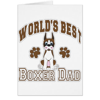 World's Best Boxer Dad Greeting Card