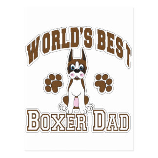 World's Best Boxer Dad Postcard