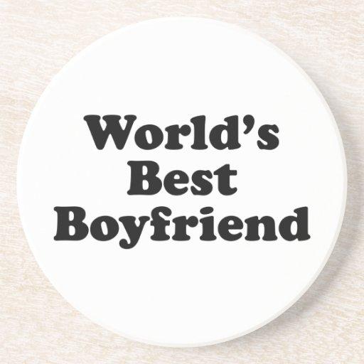 World's Best Boyfriend Beverage Coasters