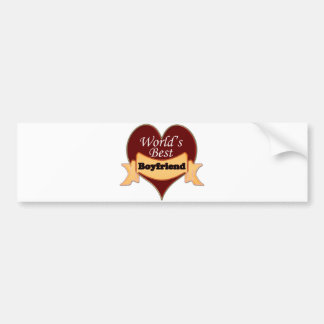 World's Best Boyfriend Bumper Sticker