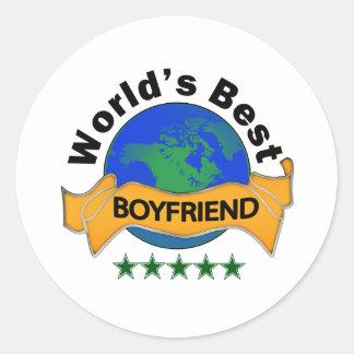 World's Best Boyfriend Classic Round Sticker