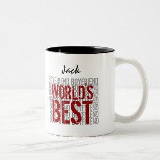 World's Best BOYFRIEND Custom Name B29G Two-Tone Coffee Mug