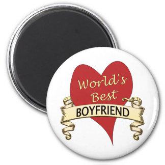 World's Best Boyfriend Refrigerator Magnets