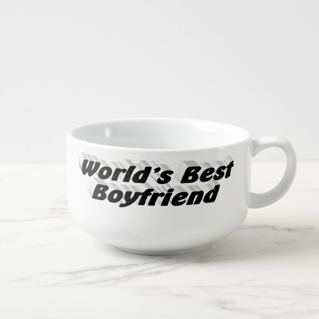 World's Best Boyfriend Soup Mug, Black