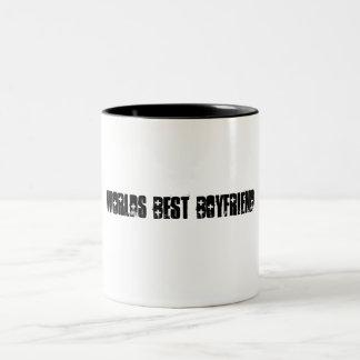 Worlds Best Boyfriend Two-Tone Coffee Mug