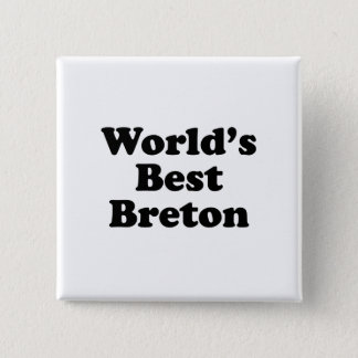 World's Best Breton Pinback Button