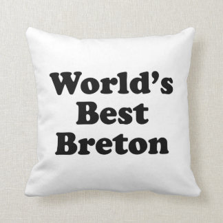 World's Best Breton Throw Pillow