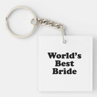 World's Best Bride Keychain
