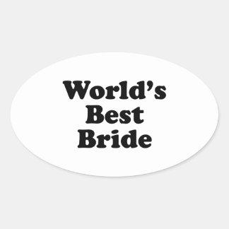 World's Best Bride Oval Sticker