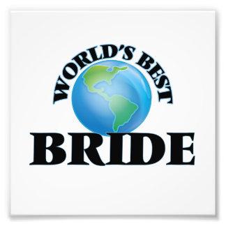 World's Best Bride Photo Print