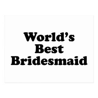 World's Best Bridesmaid Postcard