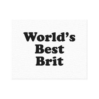 World's Best Brit Canvas Print