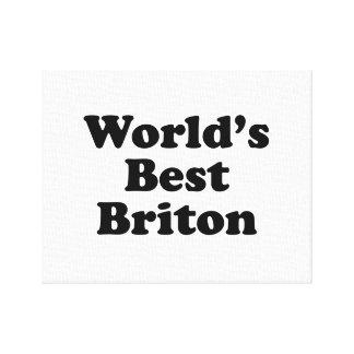 World's Best Briton Canvas Print