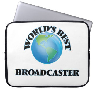 World's Best Broadcaster Computer Sleeve