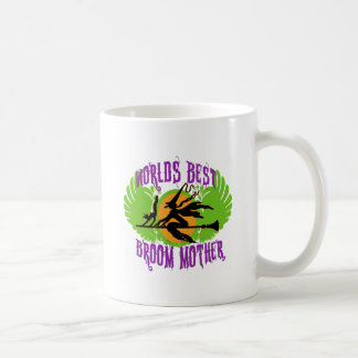 World's Best Broom Mother Classic White Coffee Mug
