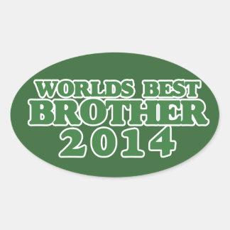 Worlds best Brother 2014 Oval Sticker