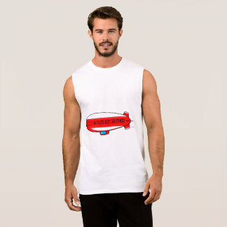 World's Best Brother and Blimp Sleeveless Shirt