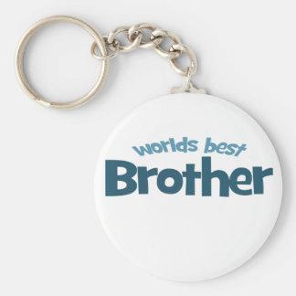 Worlds Best Brother Basic Round Button Keychain
