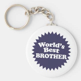 World's Best Brother Basic Round Button Keychain