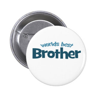 Worlds Best Brother Pin