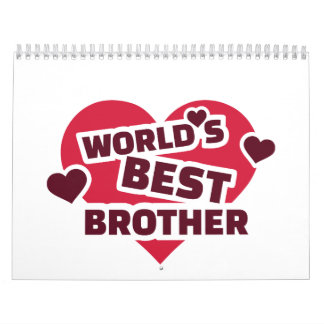 World's best brother calendar
