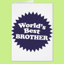 World's Best Brother Card