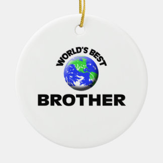 World's Best Brother Ceramic Ornament