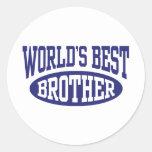 World's Best Brother Classic Round Sticker