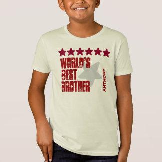World's Best Brother Custom Name Stars V05 RED T-Shirt