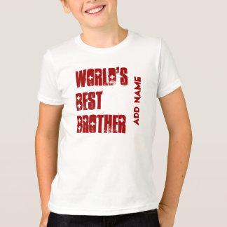 World's Best Brother Custom Name T-Shirt