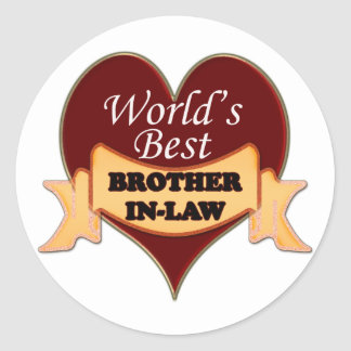 World's Best Brother-In-Law Classic Round Sticker