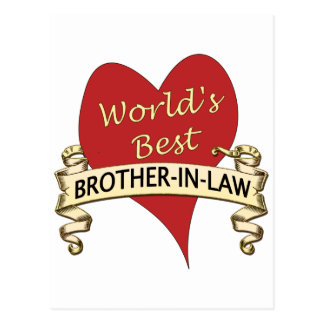 World's Best Brother-In-Law Postcard