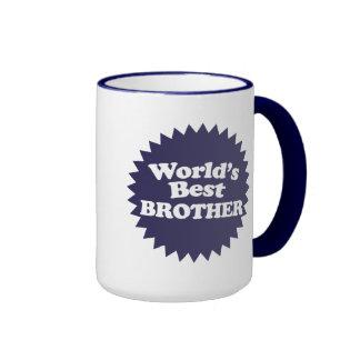 World's Best Brother Ringer Coffee Mug