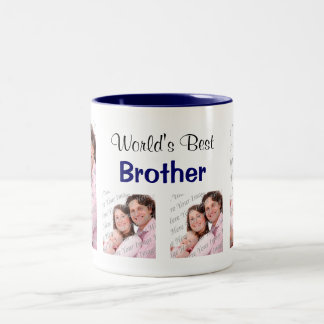 World's Best Brother Photo Mug Blue