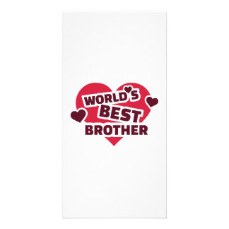 World's best brother custom photo card