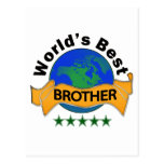 World's Best Brother Postcard
