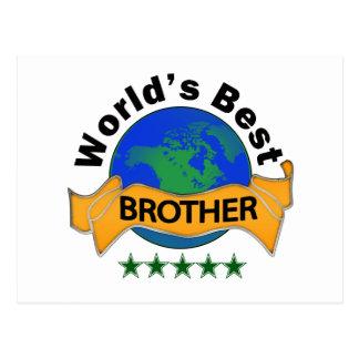 World's Best Brother Postcard