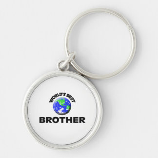 World's Best Brother Silver-Colored Round Keychain