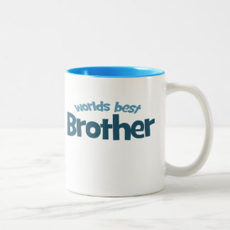 Worlds Best Brother Two-Tone Coffee Mug
