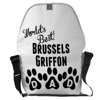World's Best Brussels Griffon Dad Messenger Bag
