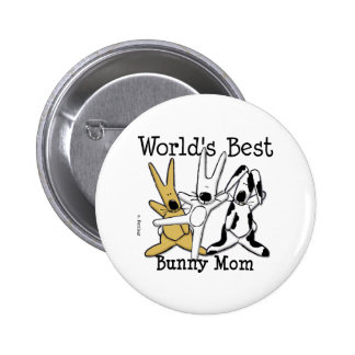 World's Best Bunny Mom Button