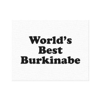 World's Best Burkinabe Canvas Print