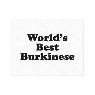 World's Best Burkinese Canvas Print
