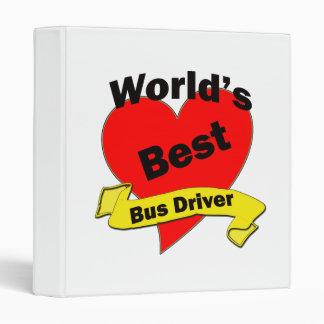 World's Best Bus Driver 3 Ring Binder