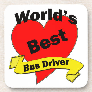 World's Best Bus Driver Beverage Coaster