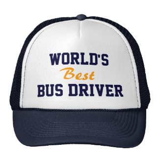 World's best bus driver cap trucker hat