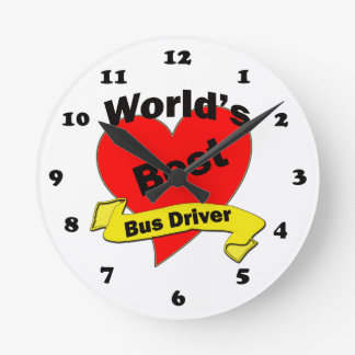 World's Best Bus Driver Round Wall Clock
