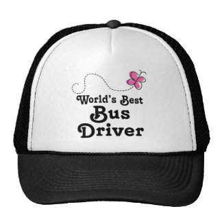 Worlds Best Bus Driver Gift Idea Trucker Hat